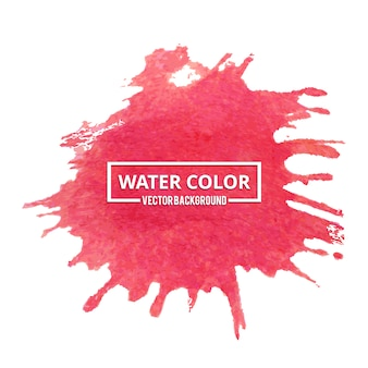 Red watercolor splash background