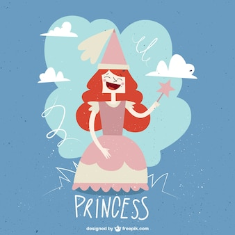 Redheaded princess in a vintage style