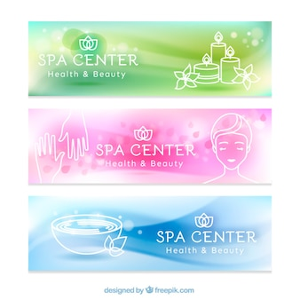 Relaxing spa banners