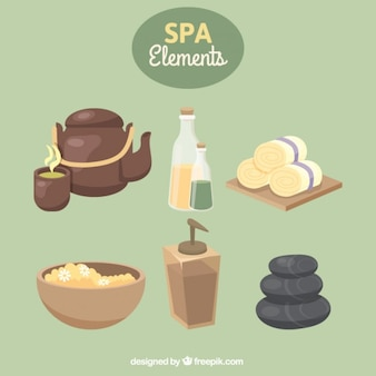 Relaxing spa elements
