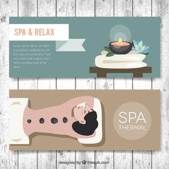 Relaxing spa session banners