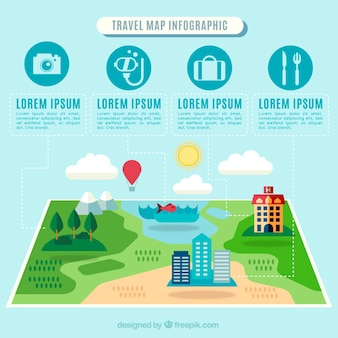 Relaxing travel infographics