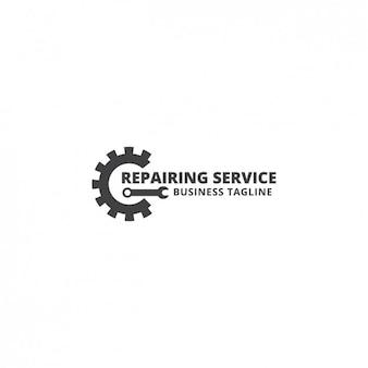 Repairing service logo template
