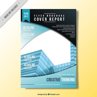 Report cover in abstract style