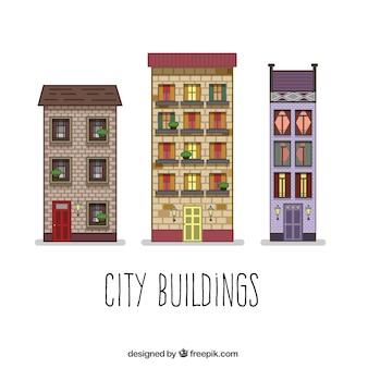 Residential city buildings