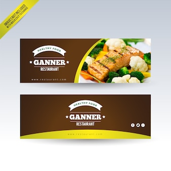 Restaurant banners set