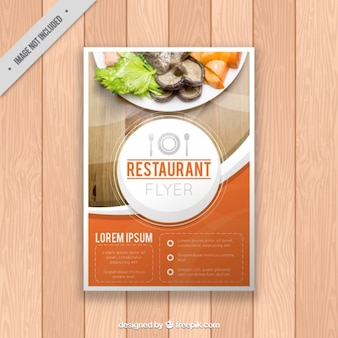 Restaurant brochure template