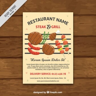 Restaurant brochure with delicious barbecue