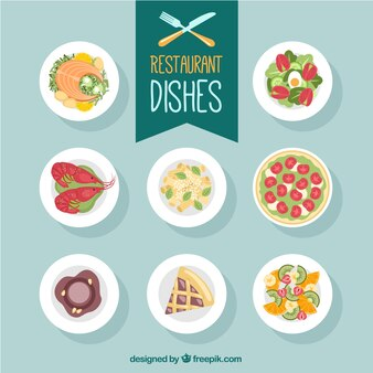 Restaurant dishes selecction