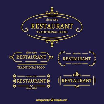 Restaurant Flat Logo Collection