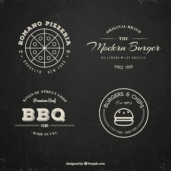 Restaurant logo collection in vintage style
