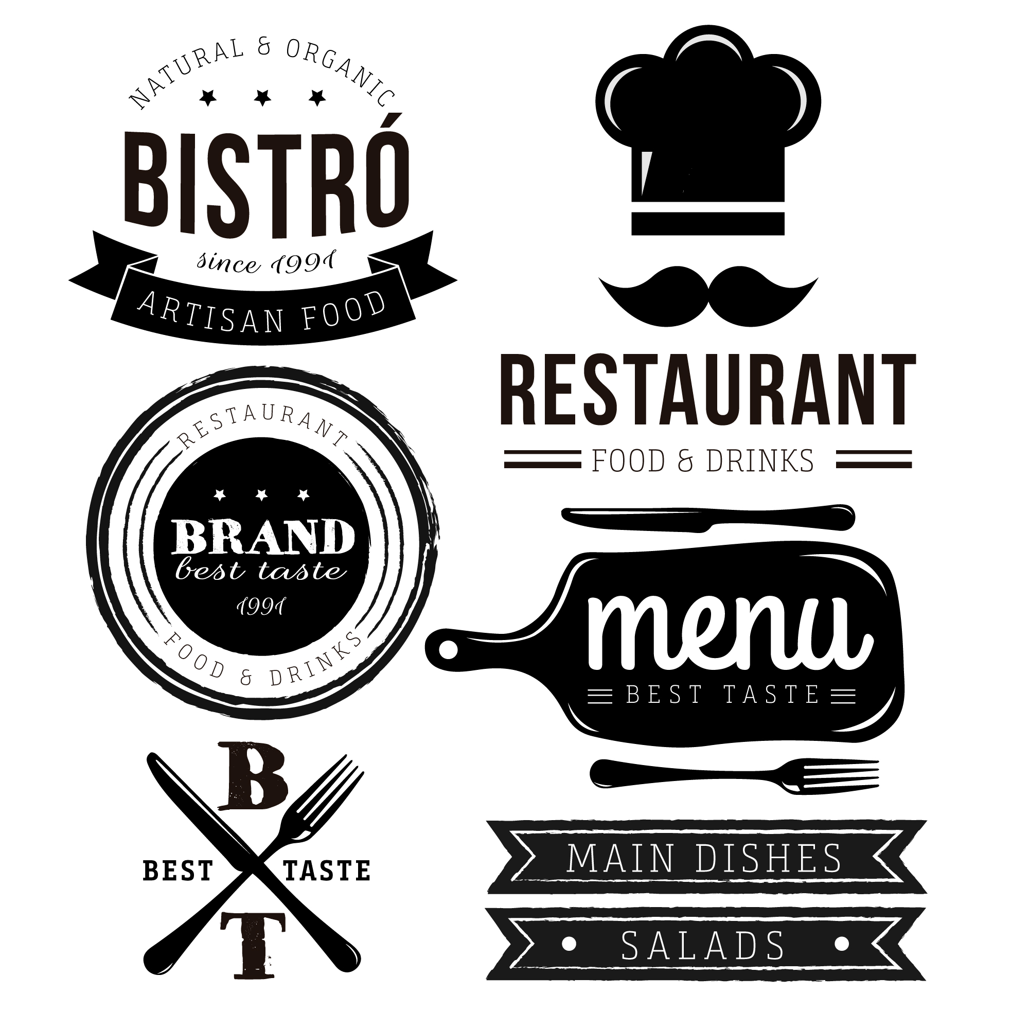 Restaurant logo collection