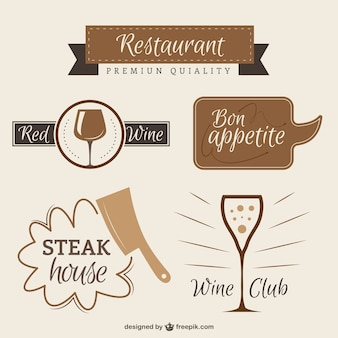 Restaurant logos in vintage style