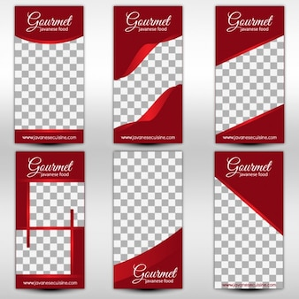 Restaurant menu cover templates
