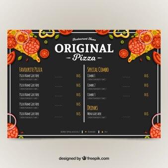 レストランメニュー、オリジナルピザ