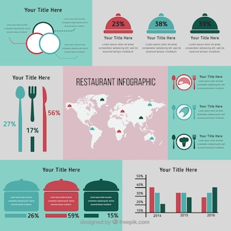 Restaurant with infographic elements