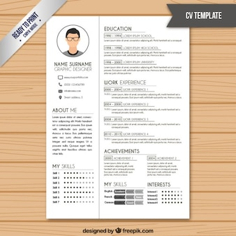 Resume template in white color
