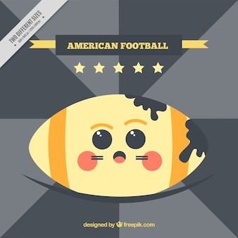 Retro american football background