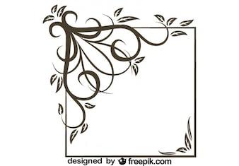 Retro Asymmetrical Square Swirl Stylish Design