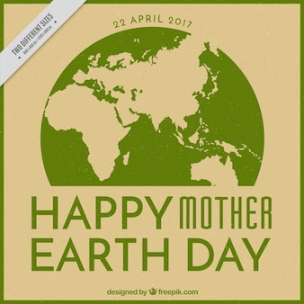 Retro background for mother earth day