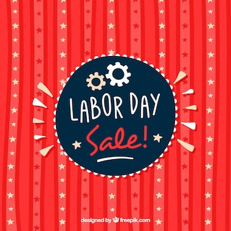 Retro background of labor day rebates