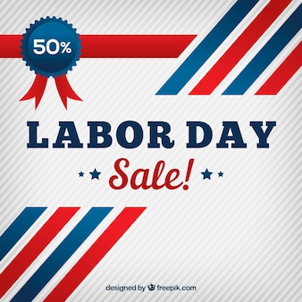 Retro background of labor day sales