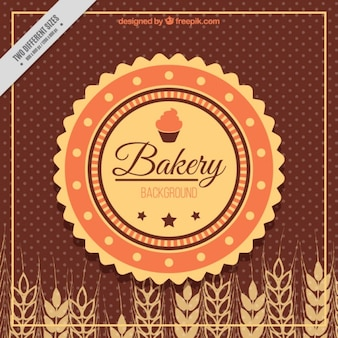 Retro background with wheat