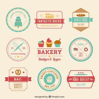 Retro bakery badges