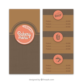 Retro bakery menu template