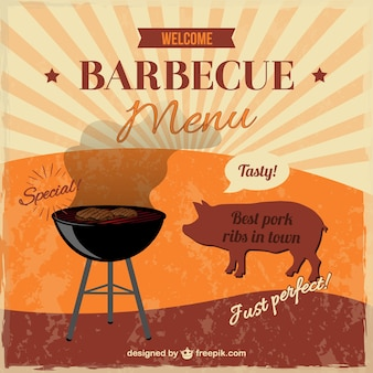 Retro barbecue menu