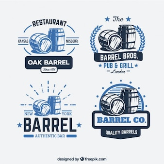 Retro barrel logos