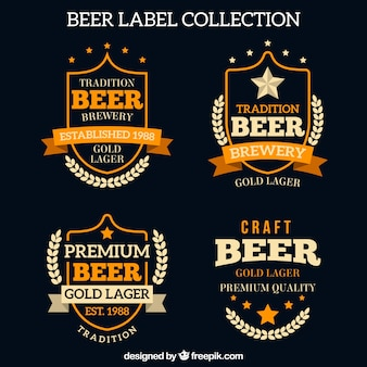 Retro beer labels pack