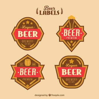 Retro beer stickers pack