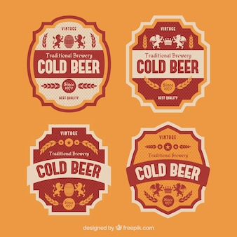 Retro beer stickers