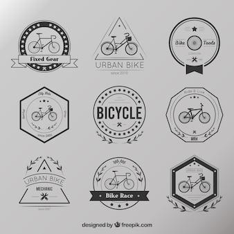 Retro bike badges