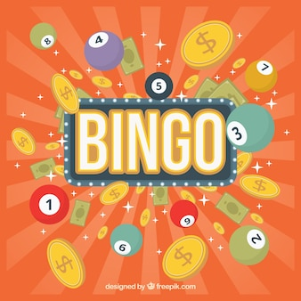 Retro bingo background in retro style
