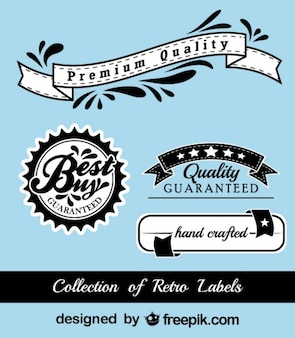 Retro Black and Blue Advertising Stickers