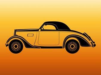 Retro car automovile vector