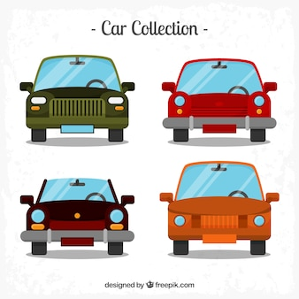 Retro cars in flat design