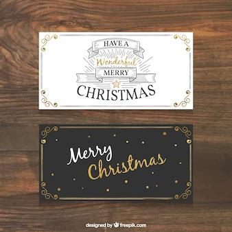 Retro christmas business card
