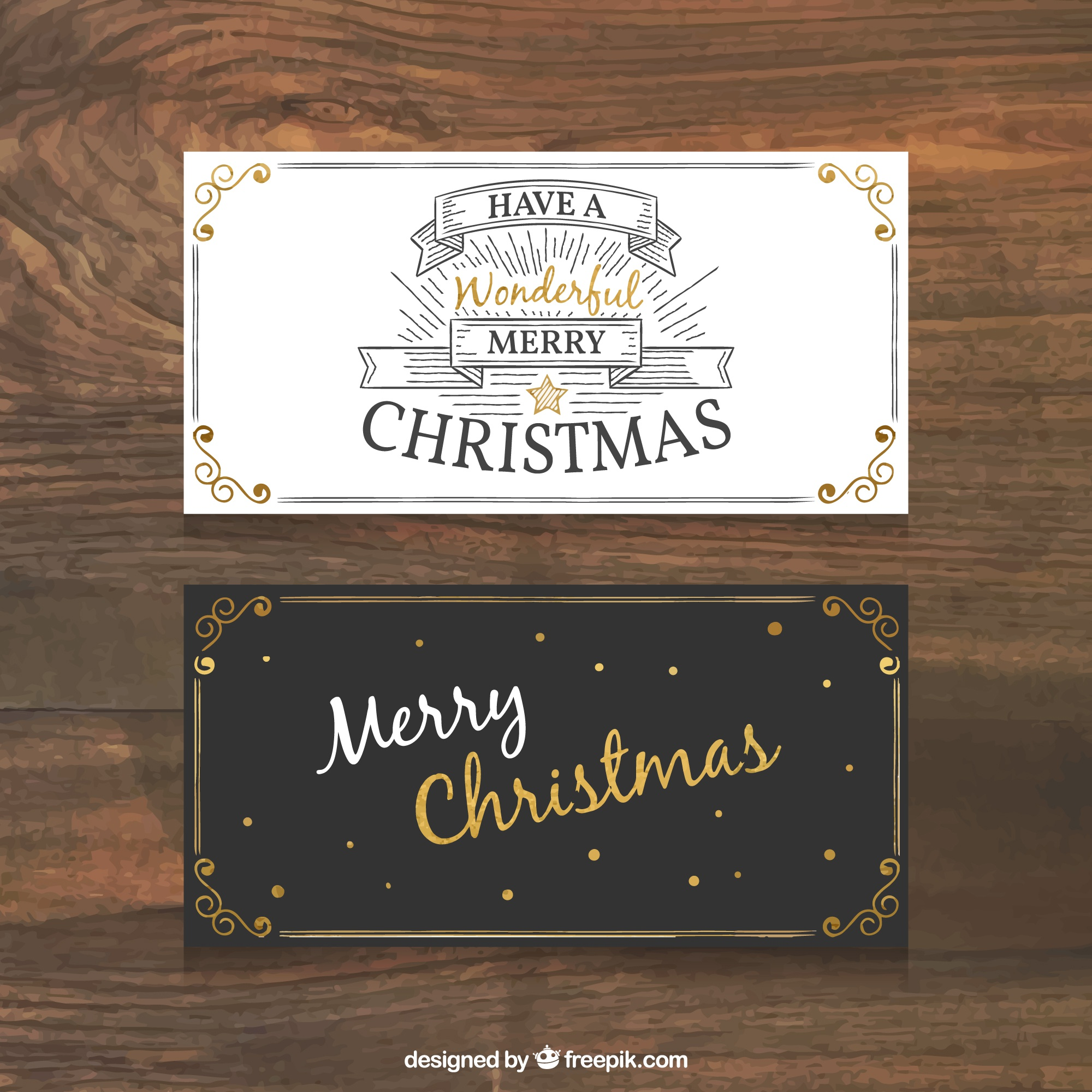 Retro christmas business card