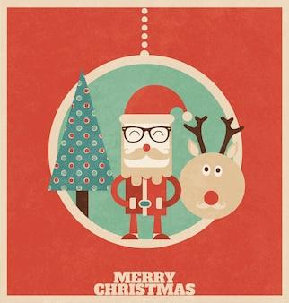 レトロクリスマスデザイン