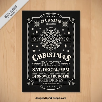 Retro christmas party brochure