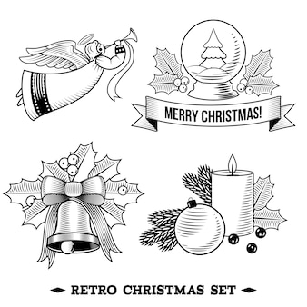 Retro christmas set