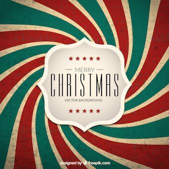 Retro christmas spiral background