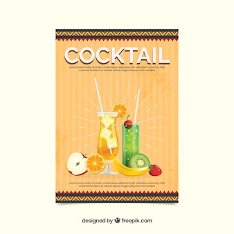 Retro cocktail party invitation