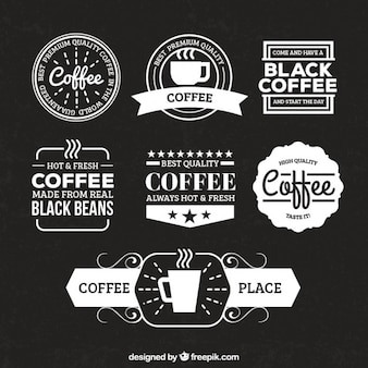 Retro coffee badges