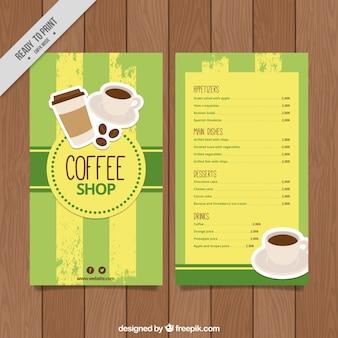 Retro coffee menu template