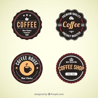 Retro coffee shop badges