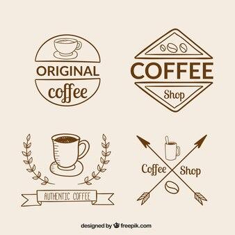 Retro collection of coffee logos